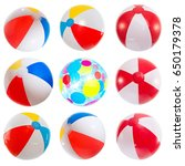 Set Of Various Beach Balls....