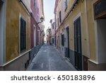 streets of ciutadella  minorca | Shutterstock . vector #650183896