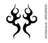 tribal symmetric pattern... | Shutterstock .eps vector #650189653