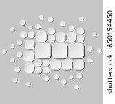 halftone geometric background.... | Shutterstock .eps vector #650194450