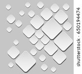 vector template. 3d squares on... | Shutterstock .eps vector #650194474