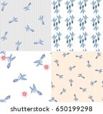 set of seamless vector pattern... | Shutterstock .eps vector #650199298