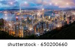 hong kong view at the peak of... | Shutterstock . vector #650200660