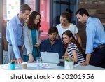 team of graphic designers... | Shutterstock . vector #650201956