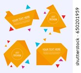 modern origami label set....   Shutterstock .eps vector #650201959