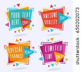 abstract colorful chat label... | Shutterstock .eps vector #650202073