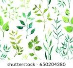 seamless watercolor pattern... | Shutterstock . vector #650204380