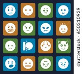 angry icons set. set of 16... | Shutterstock .eps vector #650210929
