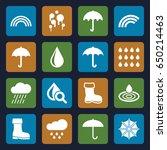 rain icons set. set of 16 rain... | Shutterstock .eps vector #650214463