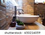 bathroom sink design | Shutterstock . vector #650216059