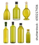 olive oil bottle glass isolated ... | Shutterstock .eps vector #650217436