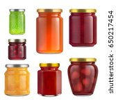 Fruit Jam Jar Glass Isolated O...