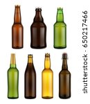 beer bottle glass isolated on... | Shutterstock .eps vector #650217466