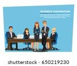 business people teamwork ... | Shutterstock .eps vector #650219230
