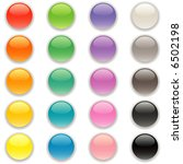 a full spectrum of button icons | Shutterstock .eps vector #6502198