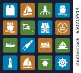 ship icons set. set of 16 ship... | Shutterstock .eps vector #650219914