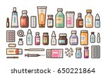 pharmacy  medication  bottles ... | Shutterstock .eps vector #650221864