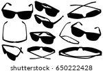 set of eyeglasses isolated | Shutterstock .eps vector #650222428