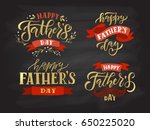 happy fathers day lettering... | Shutterstock .eps vector #650225020