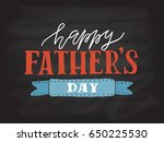happy fathers day lettering... | Shutterstock .eps vector #650225530