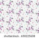 cute ditsy little floral print... | Shutterstock .eps vector #650225638