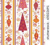 seamless pattern with decorated ... | Shutterstock .eps vector #65022691