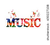 music inscription with music... | Shutterstock .eps vector #650227108