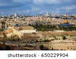 holy city of jerusalem. the... | Shutterstock . vector #650229904