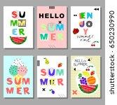 summer  bright memphis style... | Shutterstock .eps vector #650230990