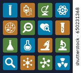 research icons set. set of 16... | Shutterstock .eps vector #650231368