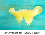a closeup of two lemon... | Shutterstock . vector #650241004