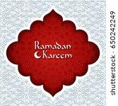 ramadan kareem greeting card.... | Shutterstock .eps vector #650242249
