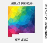 new mexico map in geometric... | Shutterstock .eps vector #650242510