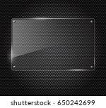 vector illustration of glass or ... | Shutterstock .eps vector #650242699