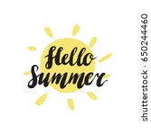 hello summer sun yellow object   Shutterstock .eps vector #650244460