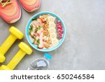 healthy food. fitness and... | Shutterstock . vector #650246584
