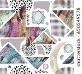 modern seamless pattern with... | Shutterstock . vector #650249578