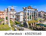 Rome  Italy. Ruins Of The Roma...
