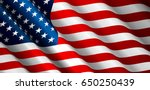 united states flag vector... | Shutterstock .eps vector #650250439