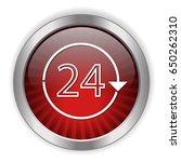 24 h non stop icon | Shutterstock .eps vector #650262310