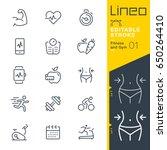 lineo editable stroke   fitness ... | Shutterstock .eps vector #650264410