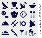 dish icons set. set of 16 dish...   Shutterstock .eps vector #650264863