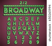 green 'broadway' font with... | Shutterstock .eps vector #650265994