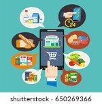 easy e commerce to new age... | Shutterstock .eps vector #650269366