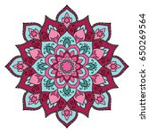 mandala. ethnic decorative... | Shutterstock .eps vector #650269564