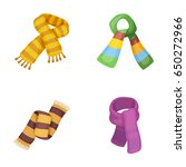 various kinds of scarves ... | Shutterstock .eps vector #650272966