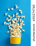 Popcorn. Flat Lay Of Popcorn...