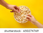 popcorn viewed from above on... | Shutterstock . vector #650274769