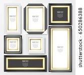 set of minimalist frames | Shutterstock .eps vector #650286388