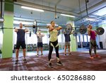 fitness  sport  training ... | Shutterstock . vector #650286880